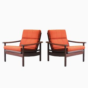 Danish Rosewood Lounge Chairs, 1960s, Set of 2