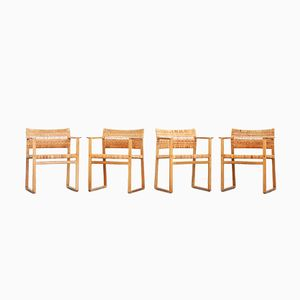 Vintage Model BM 62 Dining Chairs by Børge Mogensen for Fredericia, Set of 4