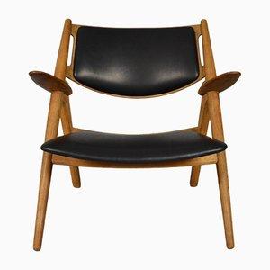 Mid-Century CH28 Sawbuck Stuhl von Hans J. Wegner für Carl Hansen