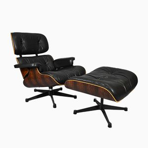 Mid-Century Lounge Chair & Ottoman by Charles & Ray Eames for Vitra