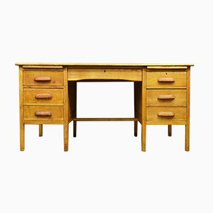 Mid-Century Solid Oak Desk, 1960s