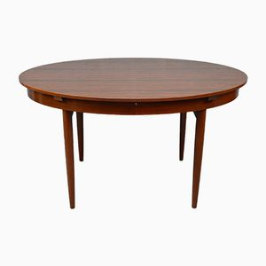 Mid-Century Rosewood Oval Extendable Dining Table from Greaves and Thomas