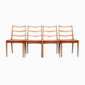 Mid-Century Teak Danish Dining Chairs by Kai Kristiansen for Korup, Set of 4