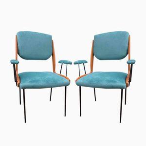 Italian Desk Chairs, 1960s, Set of 2