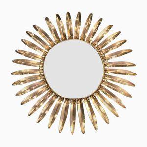 Specchio a forma di sole Mid-Century, Danimarca, anni '60