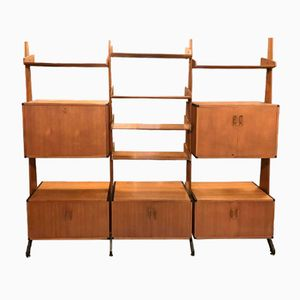 Mid-Century Library Wall Unit, 1960s