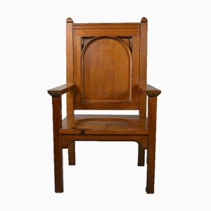 Large Solid Oak Chair