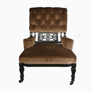Antique Edwardian Ebonised Armchair