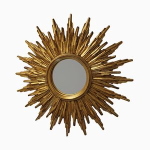 Mid-Century Spiegel in Sonnen Optik