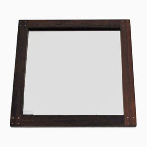 Swedish Rosewood Mirror by Uno & Östen Kristiansson for Luxus, 1960s
