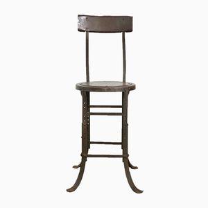 Chaise de Travail Industrielle Vintage en Acier, 1920s