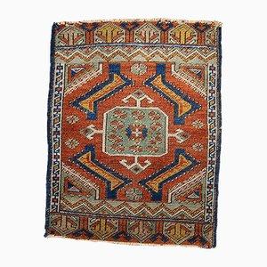 Antiker Handgemachter Türkischer Yastik Teppich, 1870er