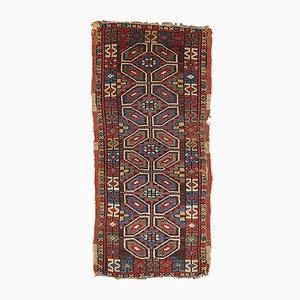 Antiker Handgemachter Türkischer Yastik Teppich, 1880er