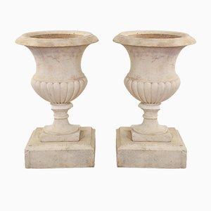 Antike Marmor Urnen, 1860er, 2er Set