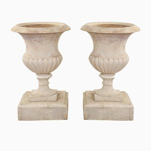 Urne antiche in marmo, metà XIX secolo, set di 2