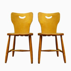 Schwedische Vintage Stühle, 1948, 2er Set