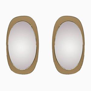 Abgeschrägte Spiegel, 1960er, 2er Set