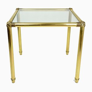 Vintage Polished Brass Coffee Table, 1970s