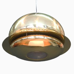 Nictea Pendant in Brass by Tobia Scarpa for Flos, 1960s
