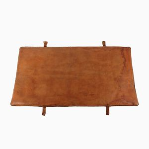 Vintage Double-Sided Leather Gym Mat
