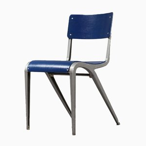 Vintage Industrial Cast Aluminum Chair by James Leonard, 1948