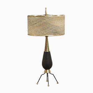 Tischlampe mit Keramikfuß, 1960er