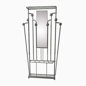 Art Deco Coat Rack with Umbrella Stand and Mirror