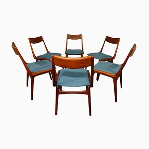 Vintage Boomerang Dining Chairs By Erik Christensen For Slagelse Møbelværk,  Set Of 6