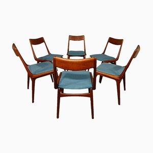 Vintage Boomerang Esszimmerstühle von Erik Christensen für Slagelse Møbelværk, 6er Set