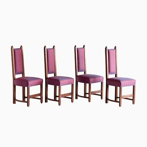 Vintage Dining Chairs, 1920s, Set of 4