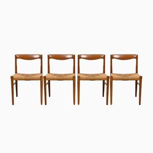 Sedie da pranzo in teak e palissandro di H.W. Klein per Bramin, anni '60, set di 4