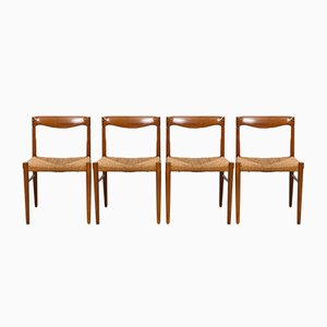 Teak & Palisander Esszimmerstühle von H.W. Klein für Bramin, 1960er, 4er Set