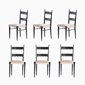 Dining Chairs by Pier Luigi Colli for Colli Torino, 1940s, Set of 6
