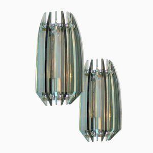 Vintage Wall Sconces from Veca, Set of 2
