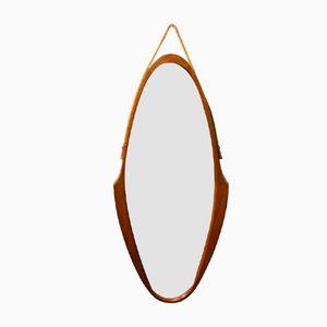 Italienischer Mid-Century Holz Spiegel