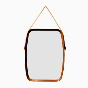 Specchio Mid-Century con cornice in legno, Italia