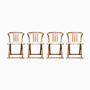 Vintage Bentwood Folding Chairs from Thonet, Set of 4