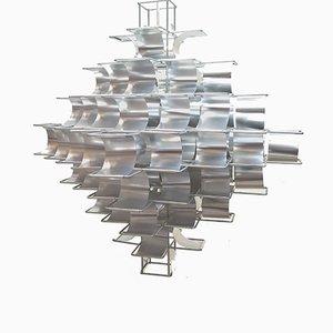 Grande Lampe à Suspension Cassiopee par Max Sauze, 1970s