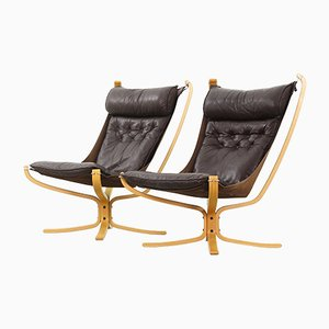 Falcon Chairs by Sigurd Resell for Vatne Møble, 1970s, Set of 2
