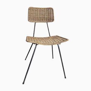 Korbgeflecht Stuhl, 1960er