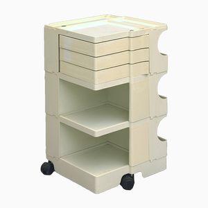 White Italian Boby Storage Trolley by Joe Colombo for Bieffeplast, 1970s