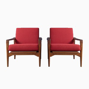 Swedish Lounge Chairs No.3 by Illum Wikkelso for N. Eilersen, 1960s