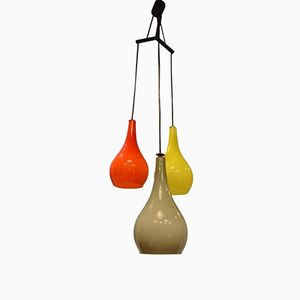 Murano Glas Deckenlampe von Stilnovo, 1960er