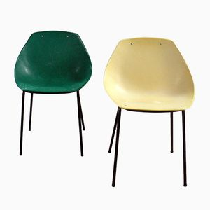 Mid-Century Coquillage Chairs by Pierre Guariche for Meurop, Set of 2