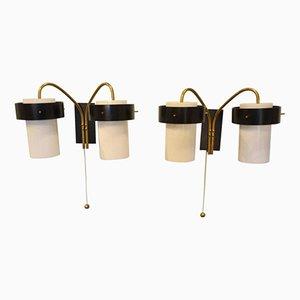 Italienische Wandlampen mit Doppelleuchten von Stilnovo, 1960er, 2er Set