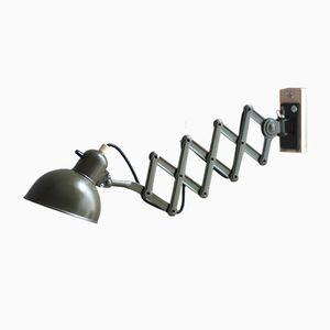 Dunkelgrüne Vintage Scherenlampe von Christian Dell für Kaiser Leuchten
