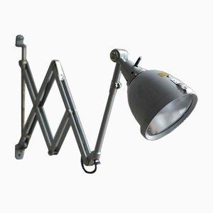 Vintage Grey-Blue Scissor Lamp by Curt Fischer for Midgard
