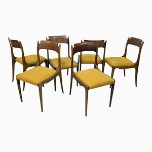 Sedie da pranzo Mid-Century, Italia, anni '50, set di 6