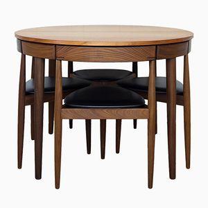 Tavolo da pranzo Roulette allungabile e quattro sedie di Hans Olsen per Frem Rojle, anni '50
