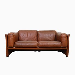 Vintage Model 405 DUC Two-Seater Leather Sofa by Mario Bellini for Cassina